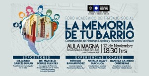 "Director de ECO participa en Foro ""La memoria de tu barrio"" en Universidad Central"