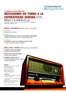 Afiche II Jornadas de Radiodifusión